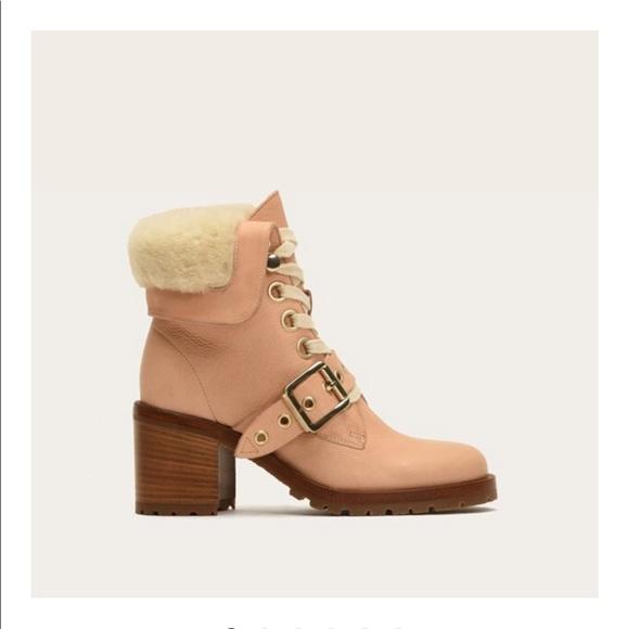 9bad5164a Brand new Frye Kaye shearling Lace Boot